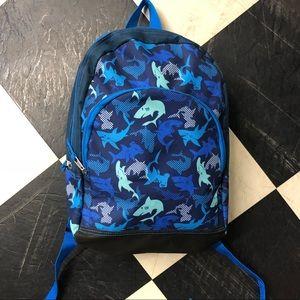 Kids blue shark backpack